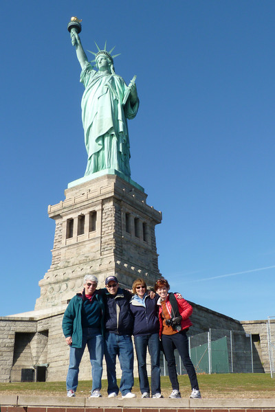 The family gets its act together at the Statue of Liberty