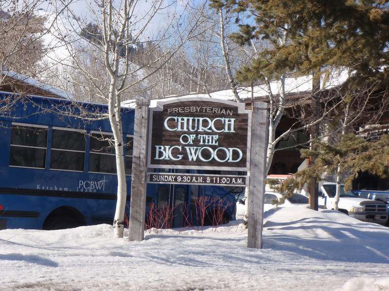 I don't think the congregation gave much thought to the name of this church.  Yes, it's in Big Wood valley.  Yes it's near the Wood River.  Either they didn't give the not-so-subtle name much thought, or they underestimated the juvenile minds of visitors to the area.................