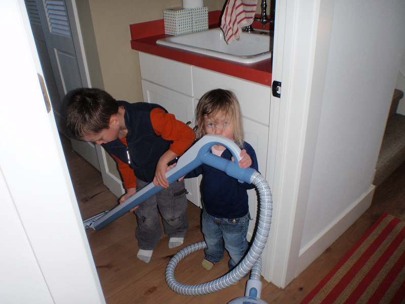 Who would have guessed that vacuuming was so much fun.