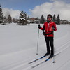 Our heavy downhill ski jackets were too heavy, so we've spent some money in the ski shop for stylish xc-ski jackets!
