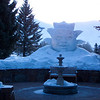 We liked this interesting snow/ice sculpture at the Sun Valley Resort in Idaho.  March, 2004