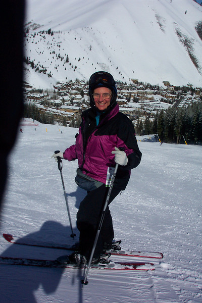 Hmmm...that slope behind Jeane looks pretty steep!