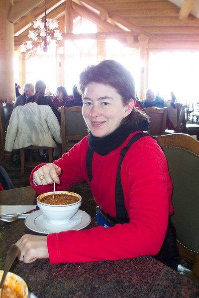 Looks like a hearty bowl of chili for Patti.