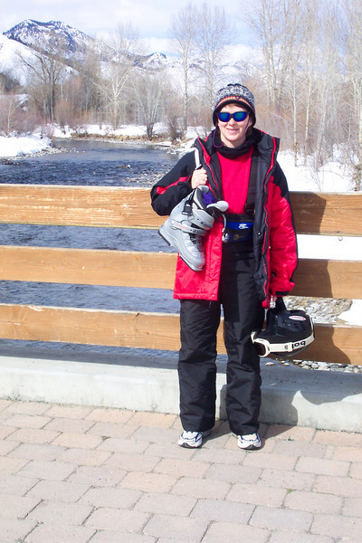 Patti is happy to have her feet in running shoes rather than ski boots!