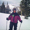 Jeane on the ski slope.