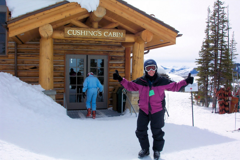 We discover that Cushing's Cabin, which used to be a tiny turkey chili and snack bar with only room enough for a handful of people, has grown into a full service lunch place.