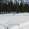 Lynn skating across the Galena meadows