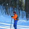 Lynn out skate skiing at Galena lodge