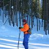 Lynn out skate skiing at Galena lodge