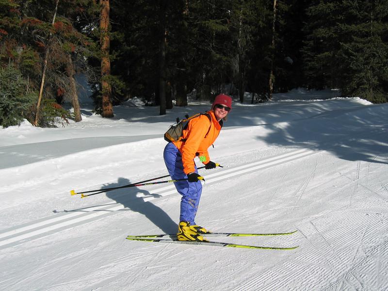 Lynn skate skiing (action pose for racing :-))