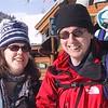 Matt, Dana and Ben snow shoeing
