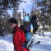 Matt and Ben snow shoeing