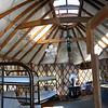Inside of a Galena Lodge rental yurt (very popular on the weekends).