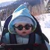 Benjamin goes snow shoeing