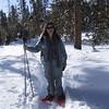Dana snow shoeing