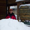 It's been a big year for snowfall in Vail; even with March sunshine the snow piles were up to Patti's chest.  This is outside the Minturn Inn, our B&B.  March 2, 2008.