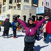 Getting ready to start another day in the brilliant Colorado sunshine...in spite of the sun you see that Jeane has her jacket fully zipped and a balaclava around her neck.  March 5th, 2008