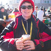 Enjoying the apres-ski hot chocolate.