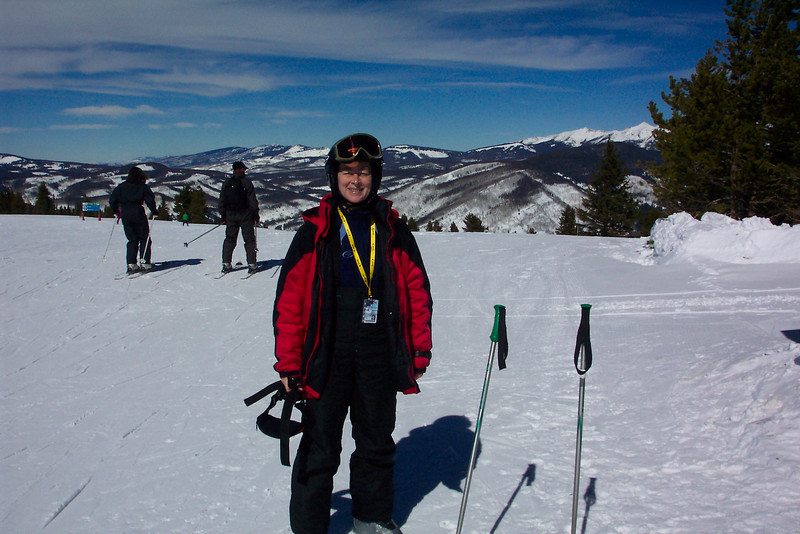 Patti's getting ready to ski again after a break.