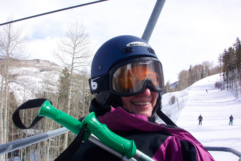 The first ride up the Born Free Express lift in Vail, Colorado...February 27th, 2011.