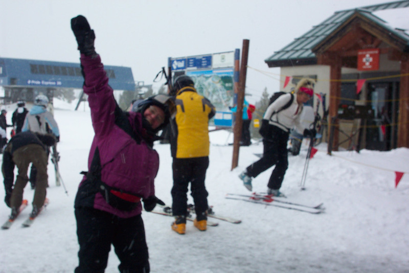 Jeane - happy to have survived the day and happy to be downloading safely on the Gondola.