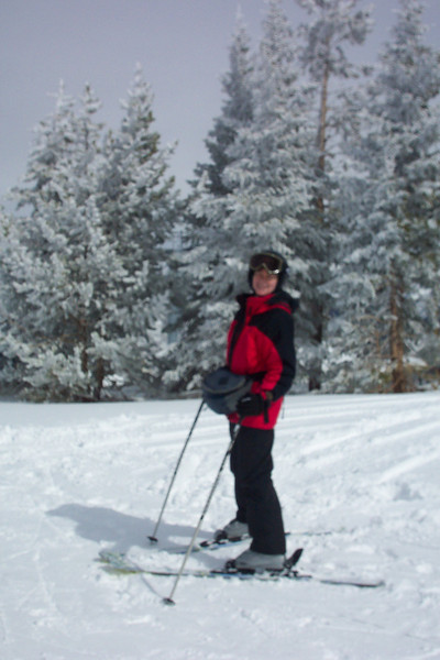 Day 3 - we're skiing in about six inches of new snow -- a challenge for us.