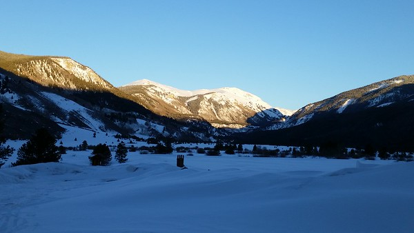 """A hiking/snowshoeing trail on national forest land off U.S. 24 (the """"Top of the Rockies"""" scenic byway)."""