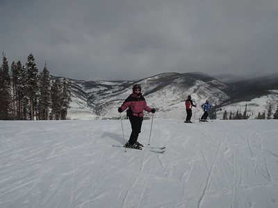 Our first ski day...it was very snowy!