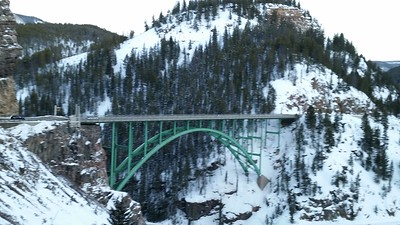 After our late snack, we took a road trip up US 24, which is a scenic byway.  This is a lovely steel arched bridge in Red Cliff, Colorado.