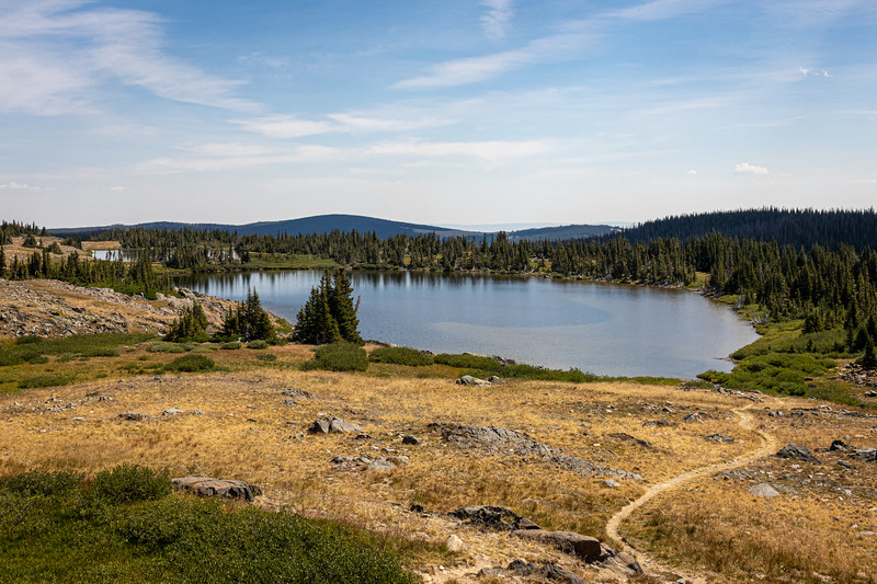 Unnames lakes along the Sheep Lake Trail