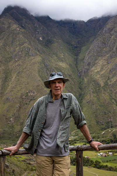 Jim above the Urrubamba River Valley