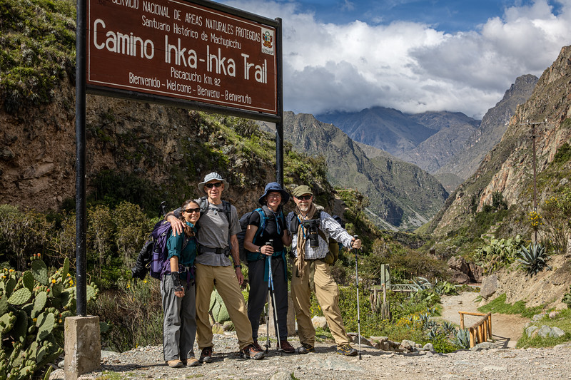 The Crew at the start of the Inca Trail