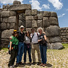 The whole gang, including Julie, at Sacsayhuaman