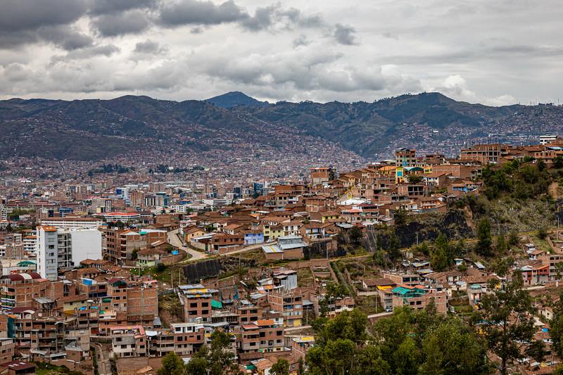 Looking down on Cusco