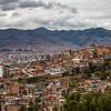 Looking down on Cusco
