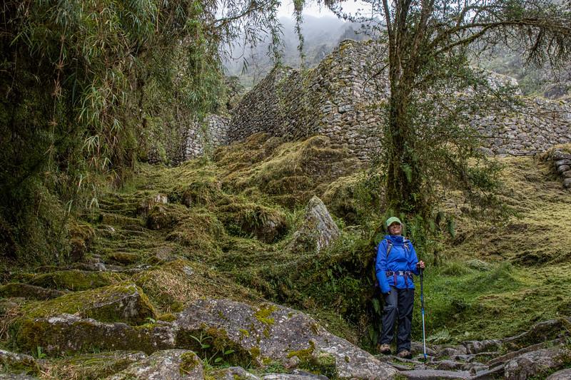 Below the Sayacmarca ruins
