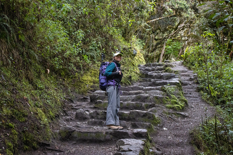 There were some stairs on the Inca Trail