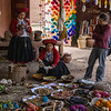 Susan with the weavers - Chinchero