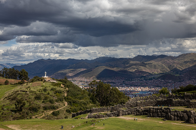 White Christ and Cusco from Sacsayhuamán
