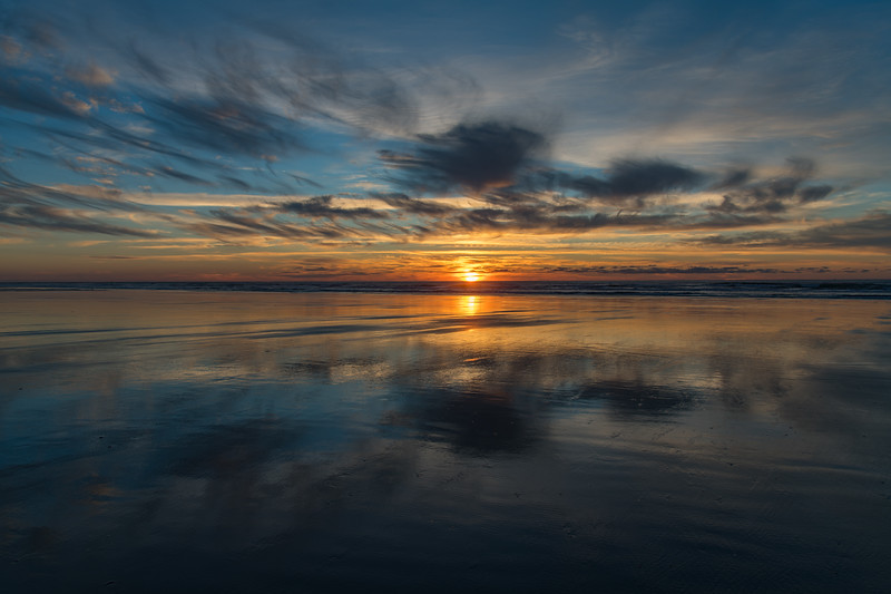 Another beautiful Oregon Pacific Coast Sunset from South Beach State Park.