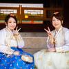 Girls in Hanbok Dresses