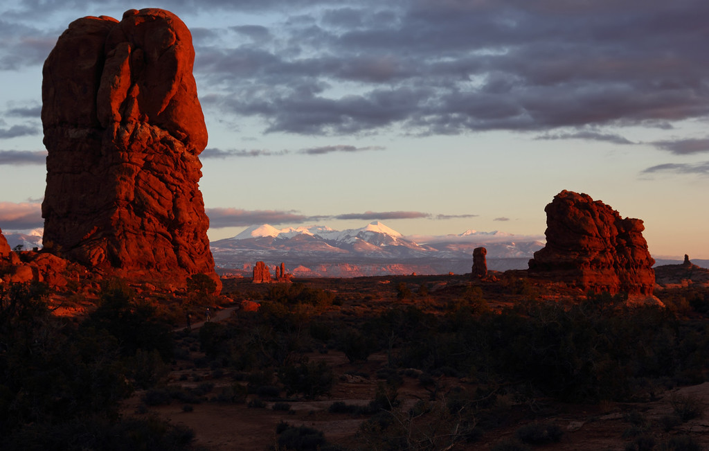 Sunset at Arches National Monument