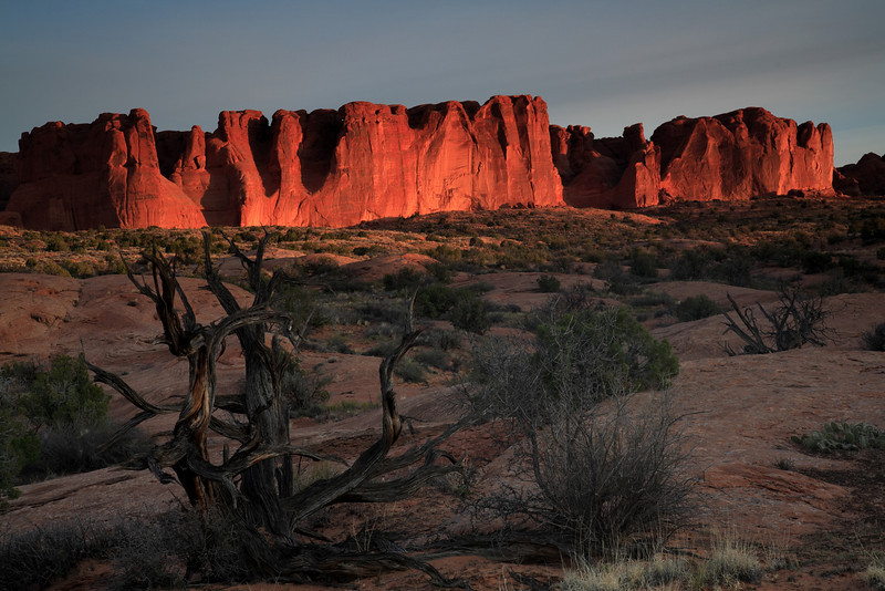Arches National Park at sunrise