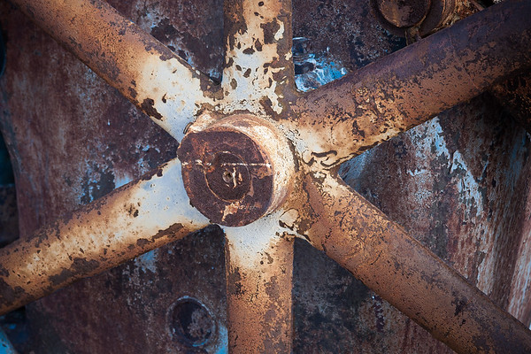 Rusted Pulley Wheel