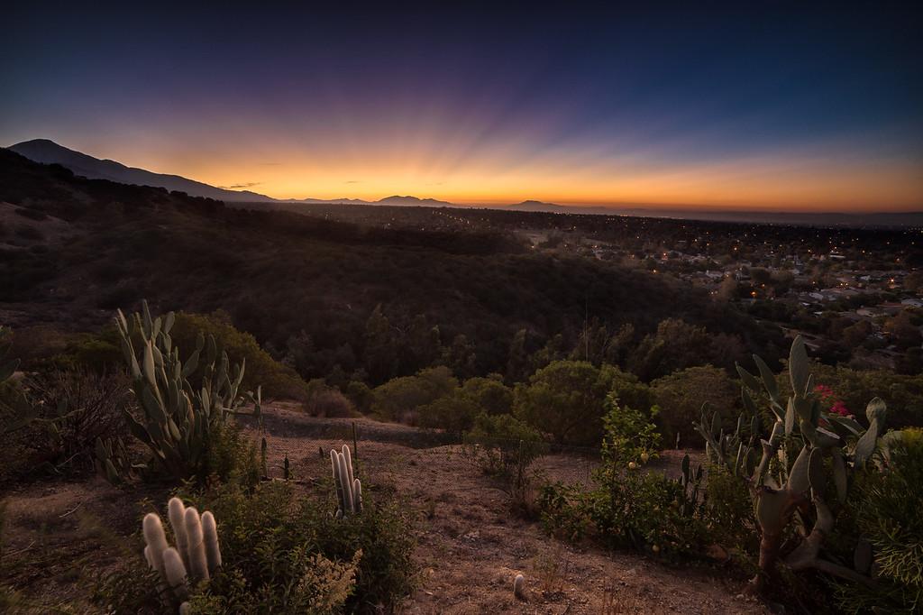 Sunrise in Claremont