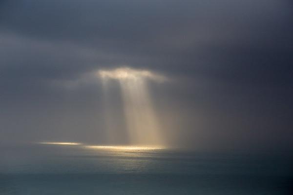 Morning Sun Peeking Through Winter Storm, Malibu, CA