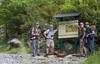 Marijn, Paul Klok, Hans Michielsen and Rogier Wassenberg at the start of our tour: San Urbez- Refugio de Góriz