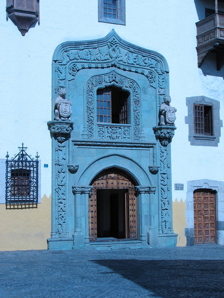 Entrance of the Biblioteca Colombina (Gran Canaria, Spain)