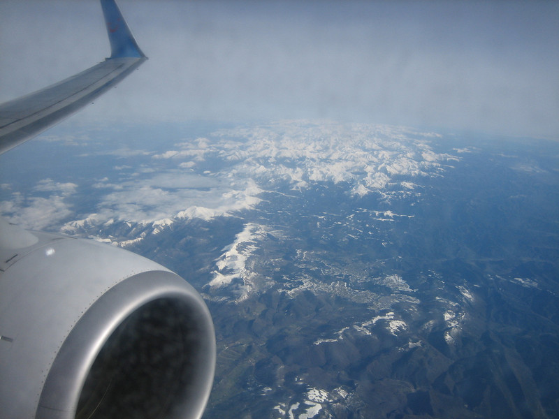 the Pyrenees (Gran Canaria - Dusseldorf)
