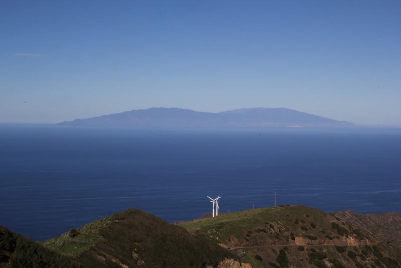 View at island La Palma, from Epina, La Gomera